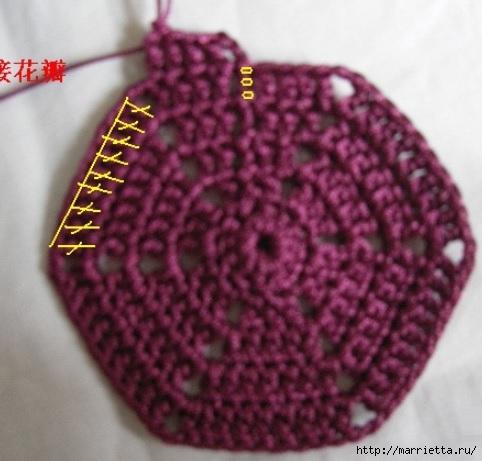 Цветочная сумочка крючком (8) (482x461, 116Kb)
