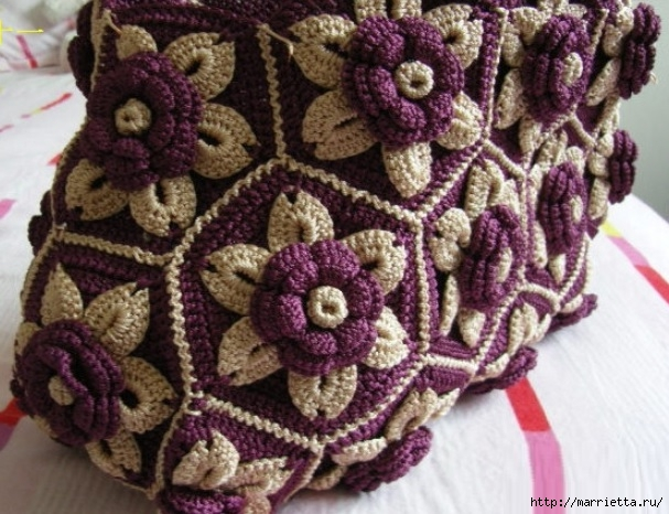 Цветочная сумочка крючком (14) (607x466, 214Kb)