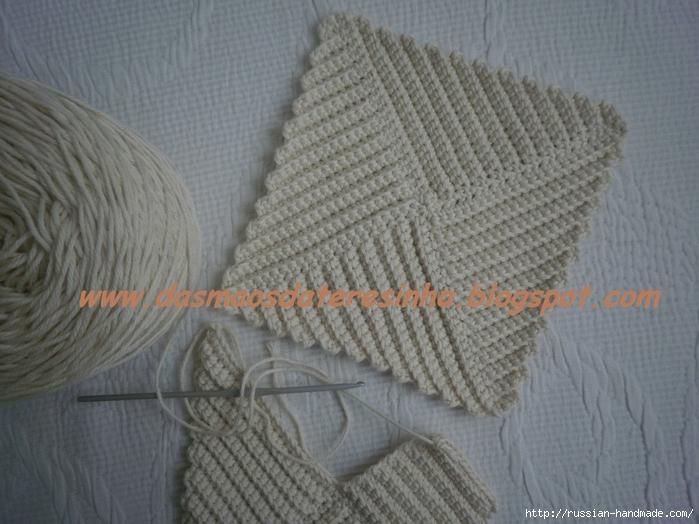 Как связать квадрат крючком для прихватки или пледа (2) (700x524, 275Kb)