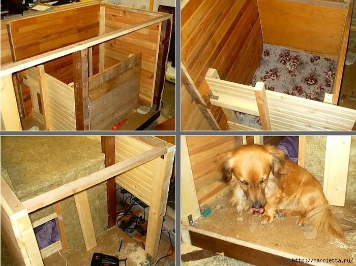 как построить будку для собаки (2) (700x524, 319Kb)