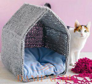Вяжем дом для кота