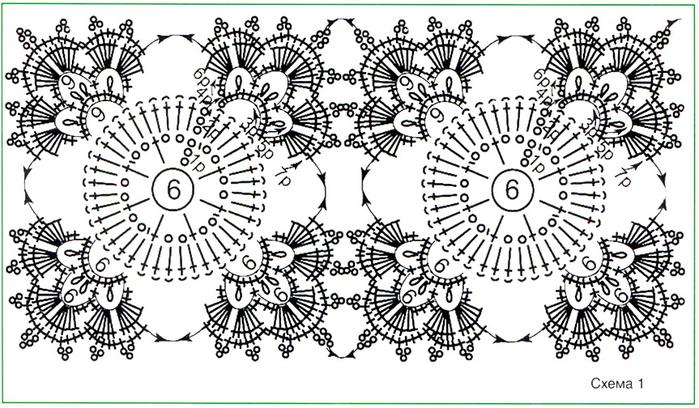 Мотивы для вязания шалей 859