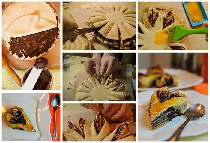 Слоеное тесто и шоколадная пастаы