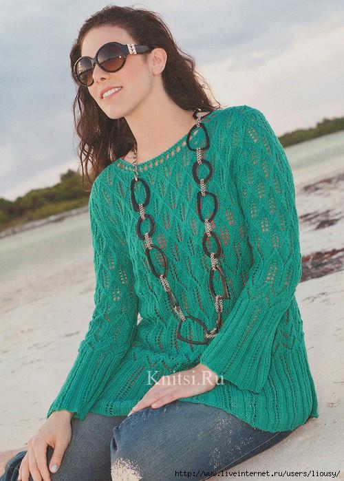пуловер цвета морской волны1 (500x700, 261Kb)