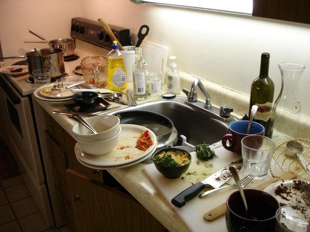 Почему нельзя оставлять грязную посуду на ночь (604x453, 59Kb)