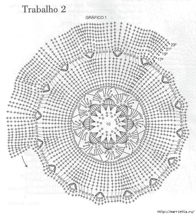 Нежный цветочный коврик крючком (1) (640x700, 388Kb)