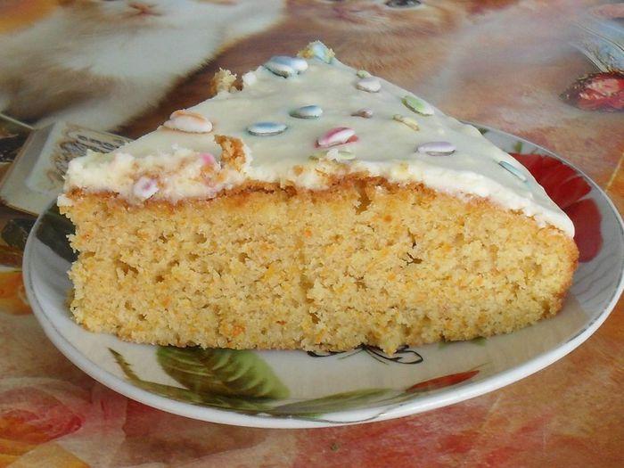 Морковный пирог рецепт со сметанным кремом