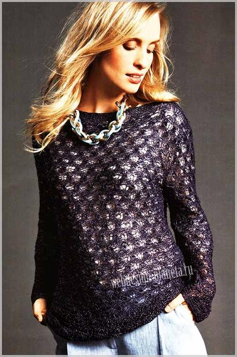 temno-fioletovyj-vyazanyj-azhurnyj-pulover-spitsami-foto (465x700, 356Kb)