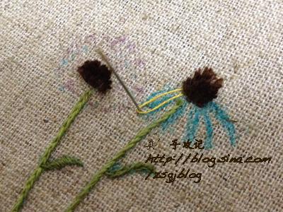 Объемная вышивка ромашек. Фото мк (5) (400x300, 206Kb)
