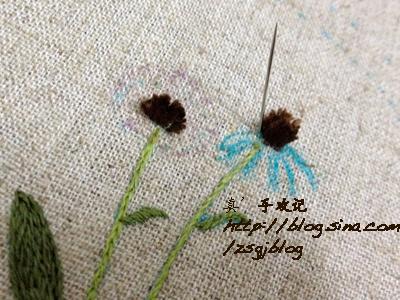 Объемная вышивка ромашек. Фото мк (7) (400x300, 203Kb)