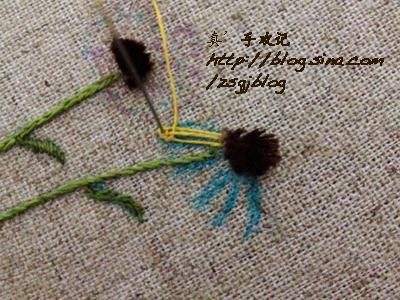 Объемная вышивка ромашек. Фото мк (13) (400x300, 212Kb)