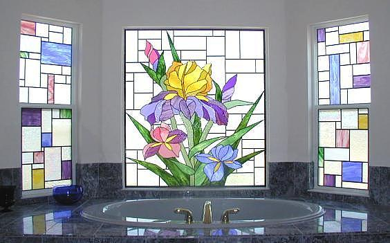 Stained-glass-bathroom-interior (564x351, 179Kb)