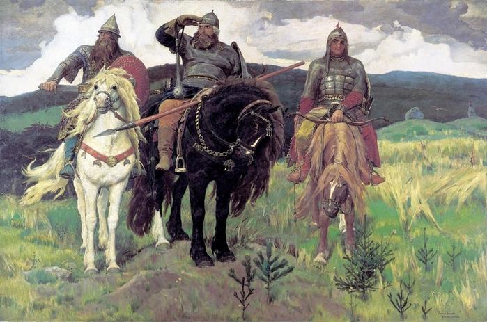 Виктор Михайлович Васнецов. Богатыри 1898. Третьяковская галерея (700x463, 290Kb)