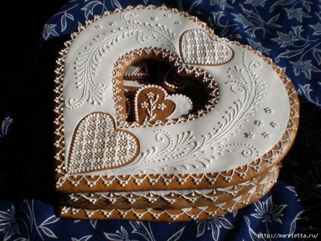 Сердечные пряники ВАЛЕНТИНКИ. Рецепт и красивые идеи (7) (640x480, 179Kb)