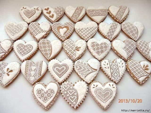 Сердечные пряники ВАЛЕНТИНКИ. Рецепт и красивые идеи (8) (640x480, 207Kb)