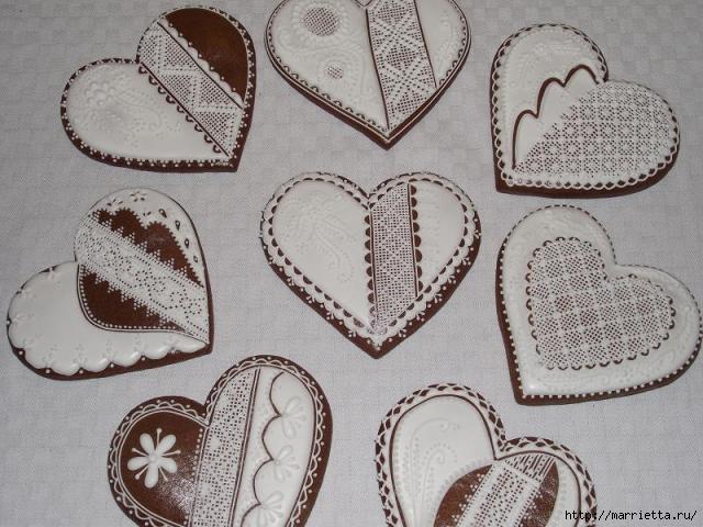 Сердечные пряники ВАЛЕНТИНКИ. Рецепт и красивые идеи (10) (640x480, 184Kb)