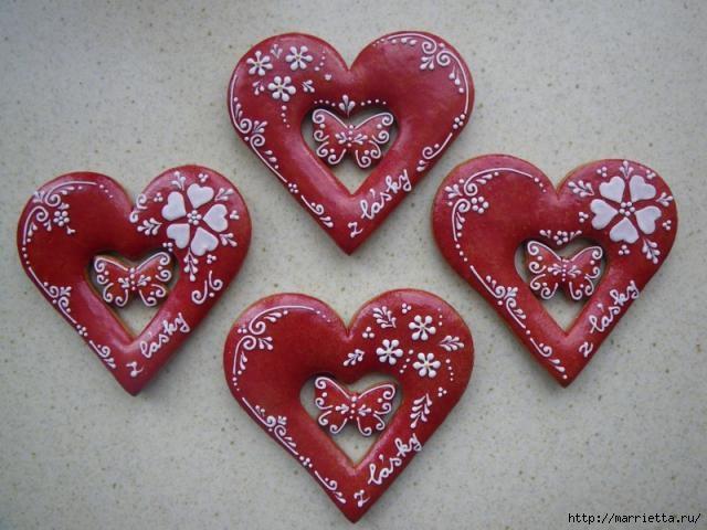 Сердечные пряники ВАЛЕНТИНКИ. Рецепт и красивые идеи (16) (640x480, 162Kb)