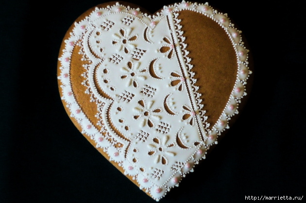 Сердечные пряники ВАЛЕНТИНКИ. Рецепт и красивые идеи (20) (630x418, 165Kb)