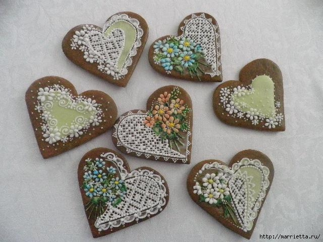 Сердечные пряники ВАЛЕНТИНКИ. Рецепт и красивые идеи (24) (640x480, 177Kb)