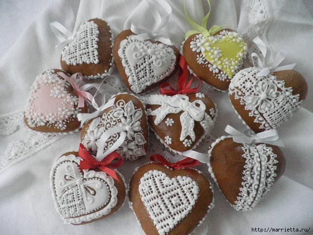 Сердечные пряники ВАЛЕНТИНКИ. Рецепт и красивые идеи (27) (640x480, 183Kb)