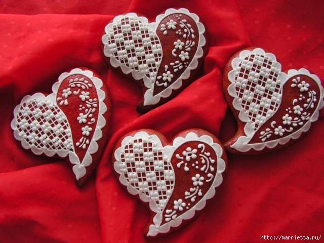 Сердечные пряники ВАЛЕНТИНКИ. Рецепт и красивые идеи (29) (640x480, 164Kb)