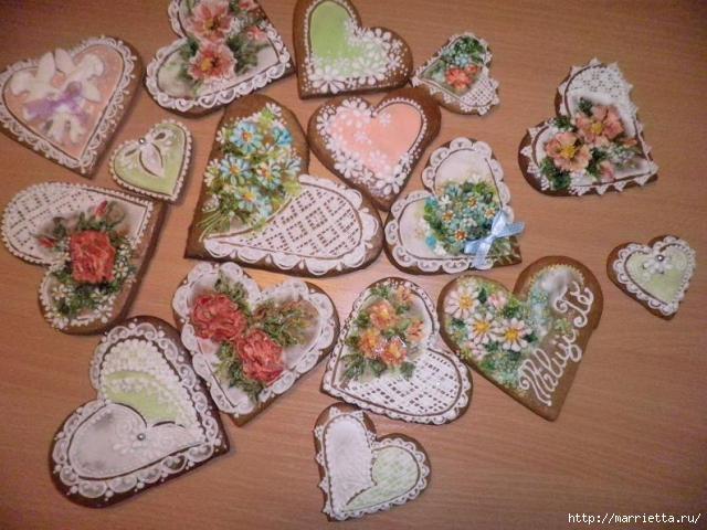 Сердечные пряники ВАЛЕНТИНКИ. Рецепт и красивые идеи (32) (640x480, 177Kb)