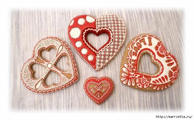 Сердечные пряники ВАЛЕНТИНКИ. Рецепт и красивые идеи (35) (640x396, 156Kb)