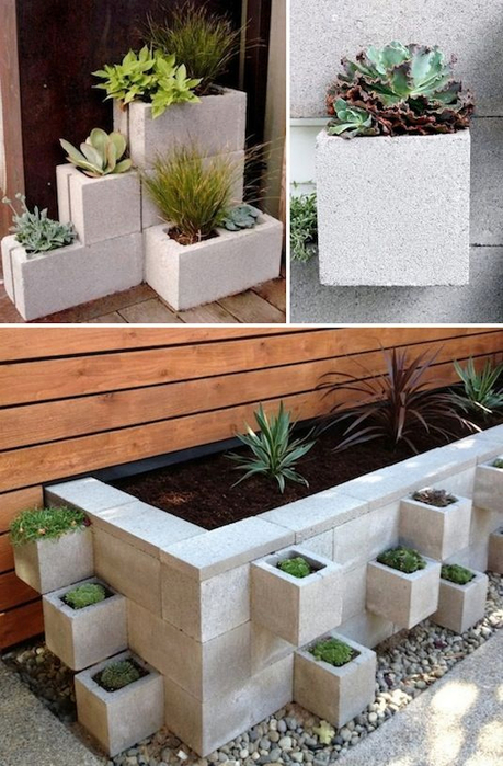 24-Creative-Garden-Container-Ideas-Use-cinder-blocks-as-planters-16 (459x700, 357Kb)