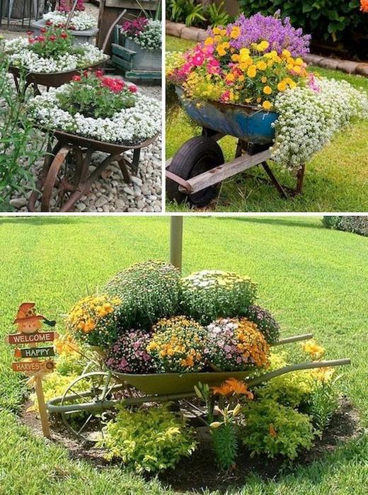 24-Creative-Garden-Container-Ideas-Use-wheel-barrows-as-planters-10 (520x700, 531Kb)