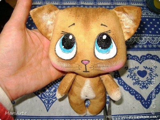 Шьем сами кофейную игрушку - милого КОТЕНКА (520x390, 151Kb)