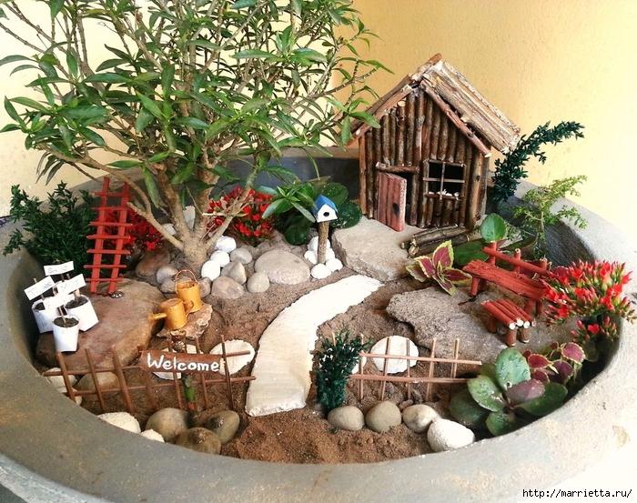 Миниатюрный сад своими руками (7) (700x553, 403Kb)