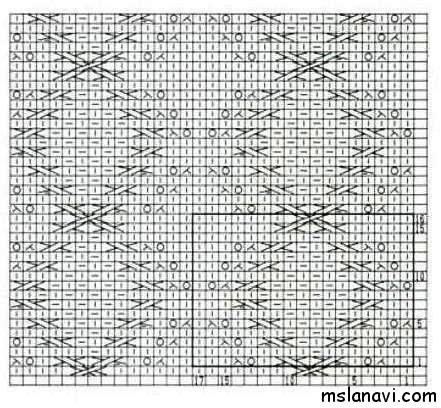 Рельефный-узор-спицами-схема-117 (441x408, 142Kb)