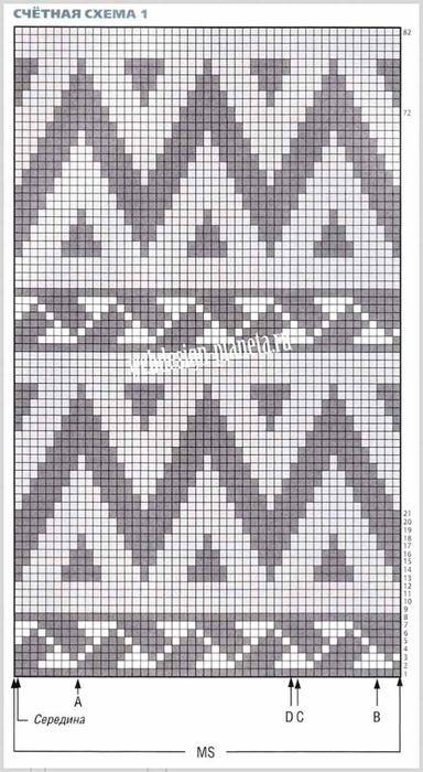 vyazanyj-zhaket-spitsami-s-zhakkardovymi-uzorami-shema-1 (384x700, 233Kb)