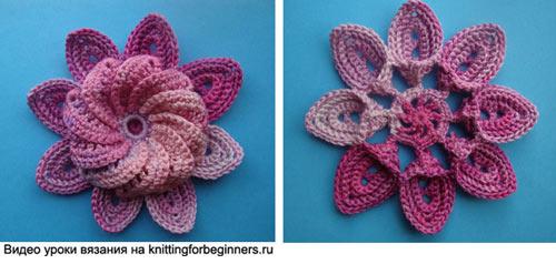 Цветок из рельефных листиков (500x238, 33Kb)
