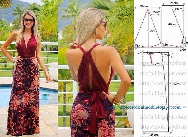 Платье на лето выкройка и фасон