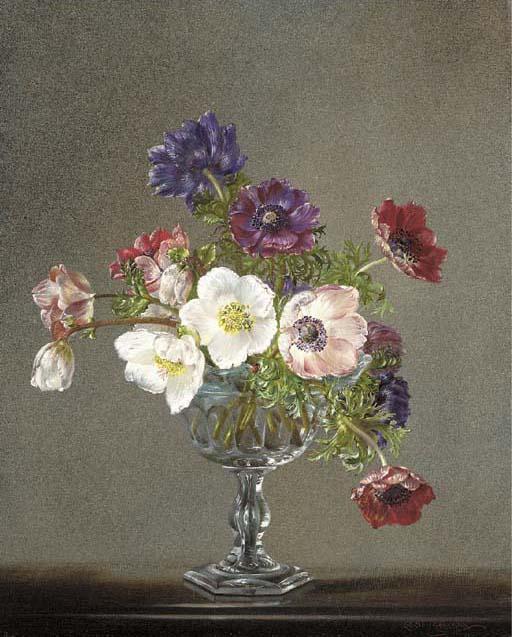 A vase of anemones (512x637, 65Kb)
