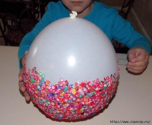 Ваза из конфетти и воздушного шарика2 (500x412, 101Kb)