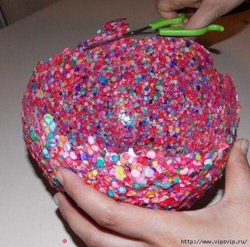 Ваза из конфетти и воздушного шарика4 (500x495, 174Kb)