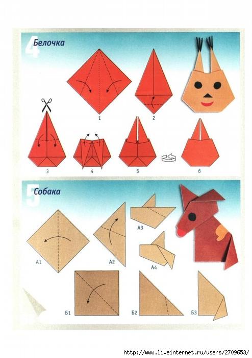 Как сделать белочку из бумаги