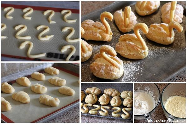 Пирожные ЛЕБЕДИ из заварного теста (3) (600x400, 212Kb)