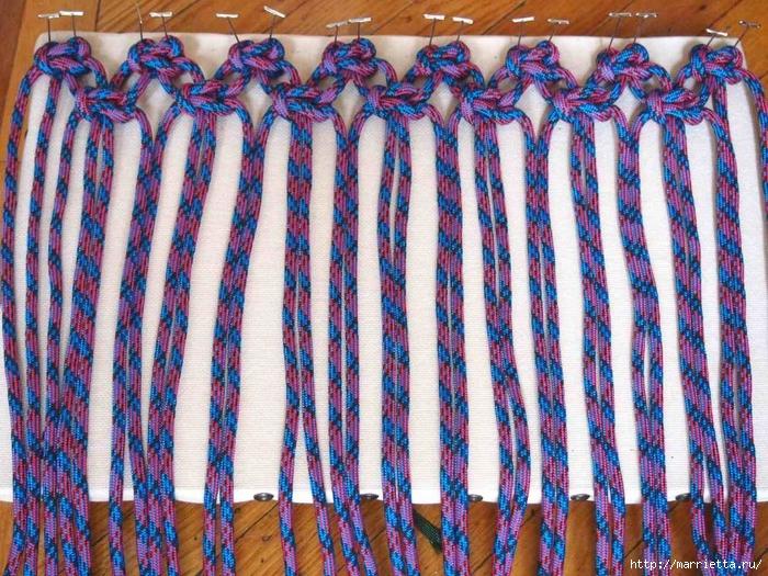 Схемы плетения коврика