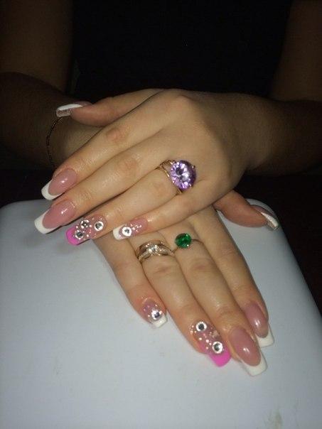 Дизайн ногтей френч со