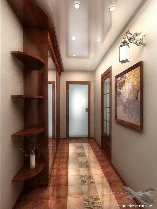 Как оформить узкий коридор (2) (525x700, 228Kb)