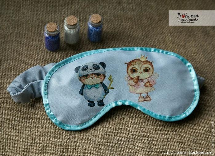 Шьем сами красивую маску для сна с совушками (3) (700x506, 357Kb)