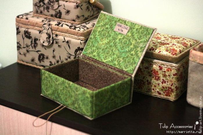 Поделка шкатулка из картона