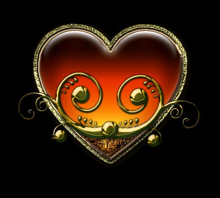Клипарт. Красивые сердечки в png (4) (434x391, 155Kb)