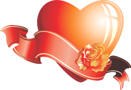 Клипарт. Красивые сердечки в png (7) (521x358, 150Kb)