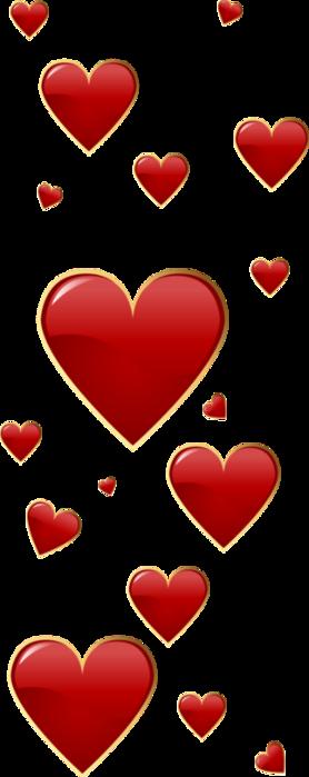 Клипарт. Красивые сердечки в png (13) (278x700, 83Kb)