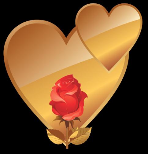 Клипарт. Красивые сердечки в png (17) (484x504, 153Kb)