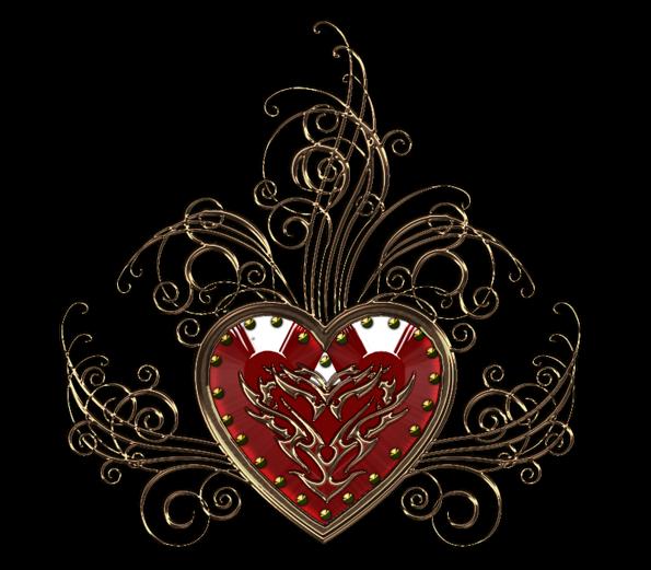 Клипарт. Красивые сердечки в png (19) (595x521, 305Kb)